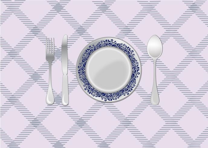 Ajuste de lugar de mesa de cena