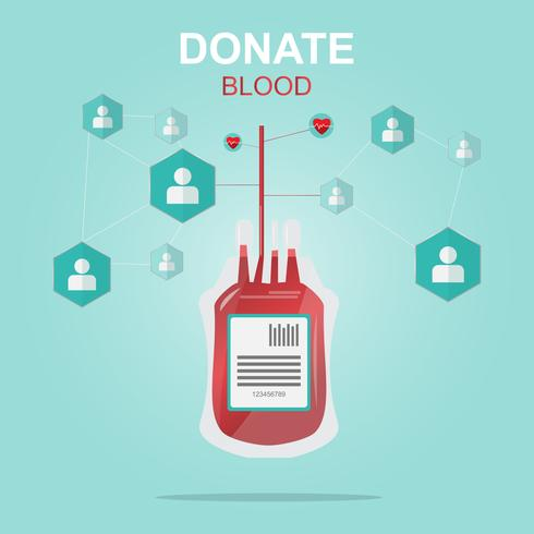 Blutspende-Design, Leben retten und ein Held sein.
