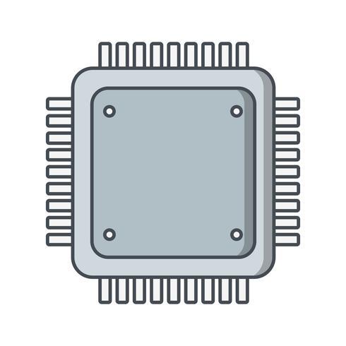 Ilustração em vetor ícone processador