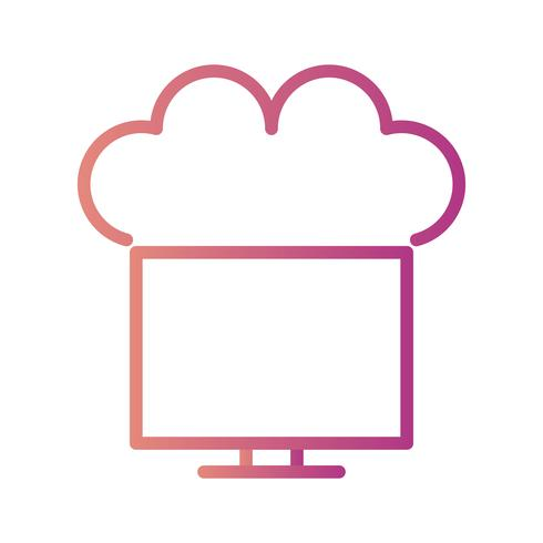 Vector conectado ao ícone da nuvem