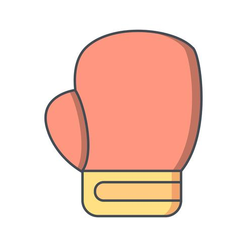 Ilustração em vetor de ícone de boxe