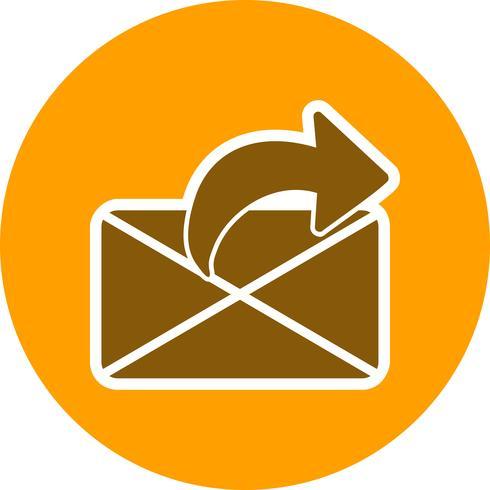 ícone de mensagem de envio de vetor