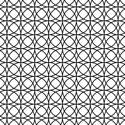 Padrão abstrato sem costura com círculos