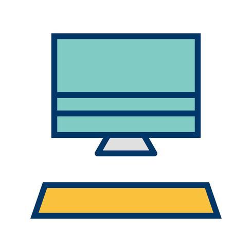 Ilustração em vetor ícone computador