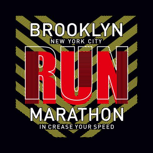 Athletic sport marathon increase your speed typography