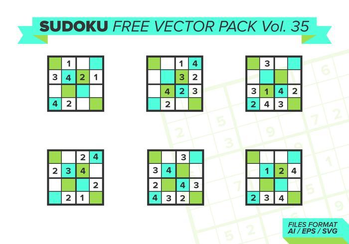 Sudoku Free Vector Pack Vol. 35