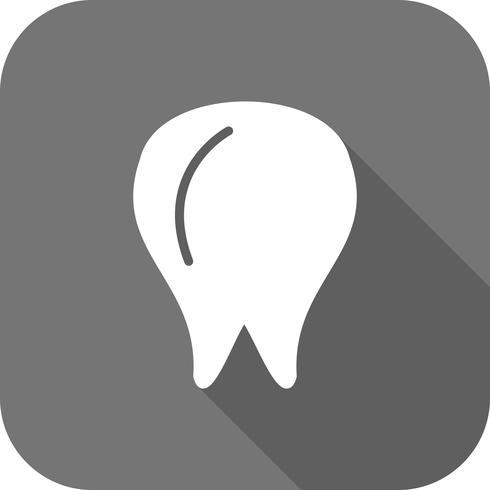 Icône de dent de vecteur