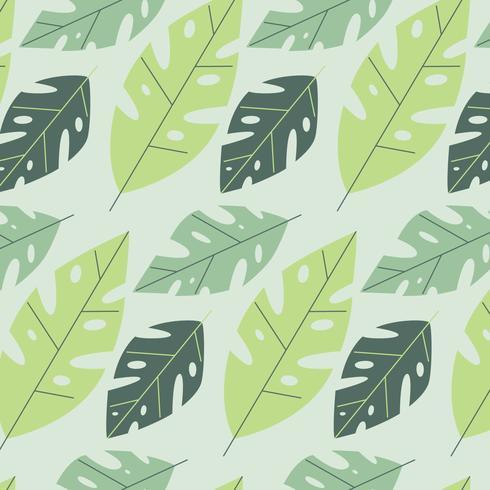 Cute Monstera Leaves Pattern