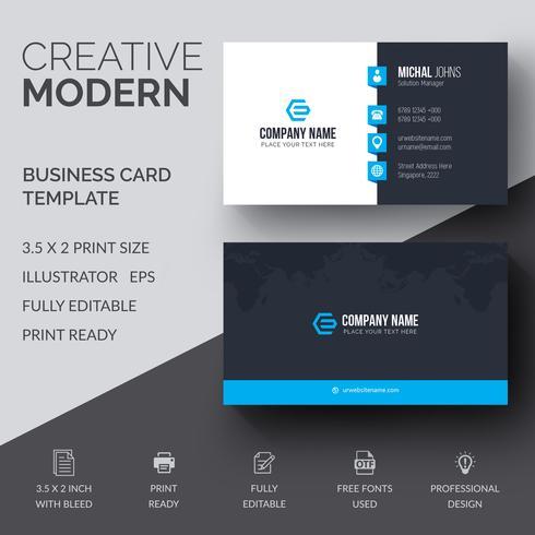 Blått elegant företagskort vektor