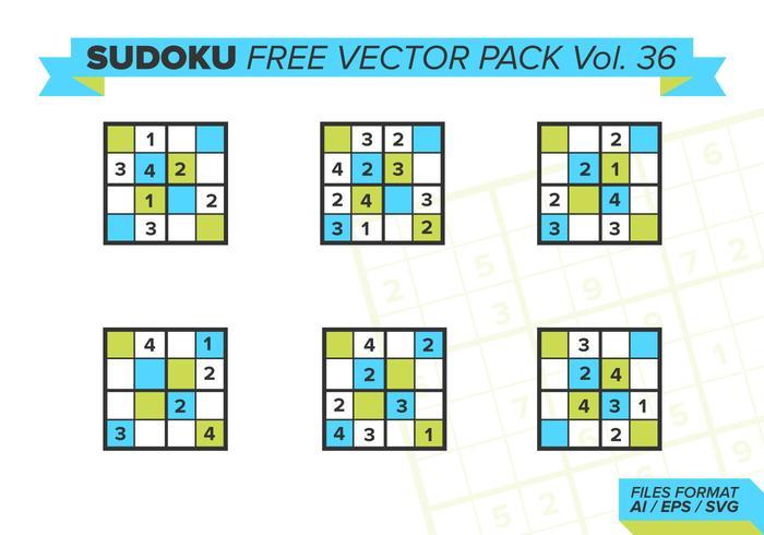 Sudoku Free Vector Pack Vol. 36