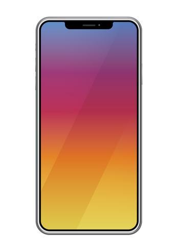 Smartphone aislado en un fondo blanco.