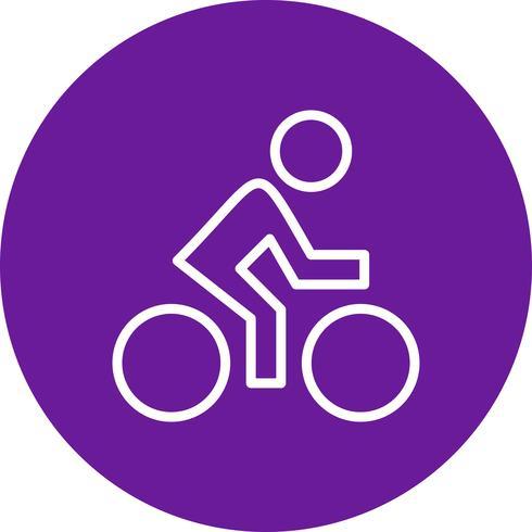 Illustrazione di vettore dell'icona del ciclista