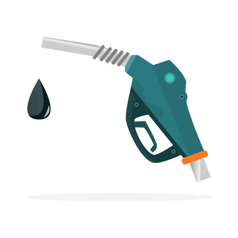 Icône de buse de pompe à carburant. Signe de la station d'essence vecteur