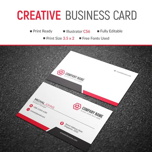 Cartão corporativo elegante vetor
