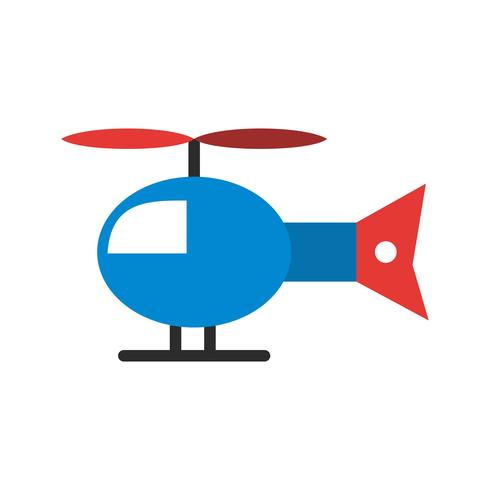 Vector helikopter pictogram