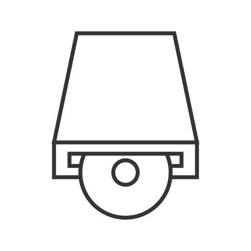 Dvd Layer lijn zwart pictogram