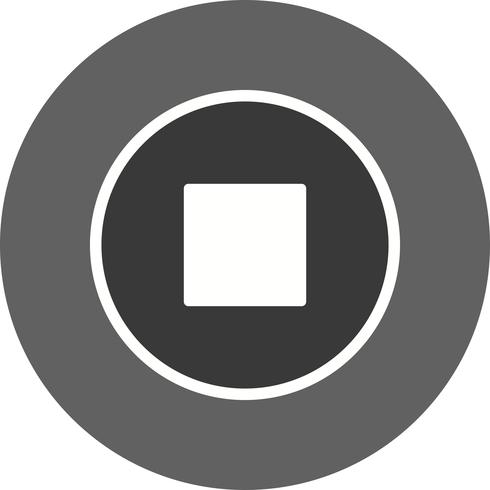 Stop Icon Vector Illustration