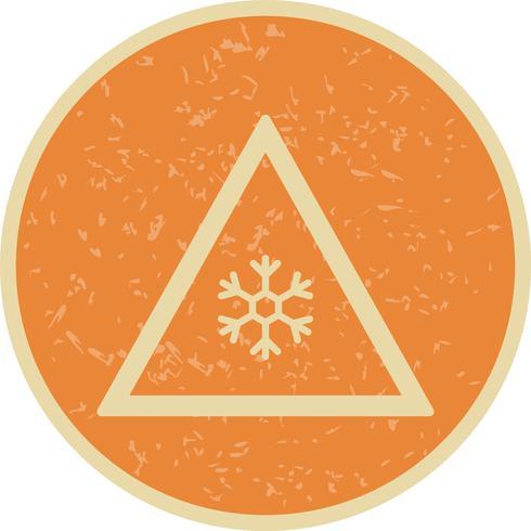 Risco de vetor de ícone de sinal de estrada de gelo