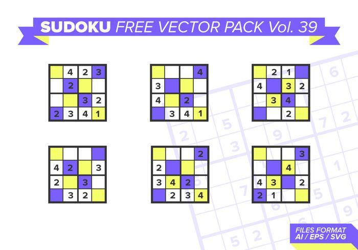 Sudoku Vecteur Libre Pack Vol. 39