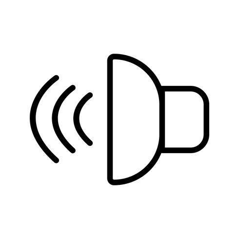 Icono de sonido ilustración vectorial