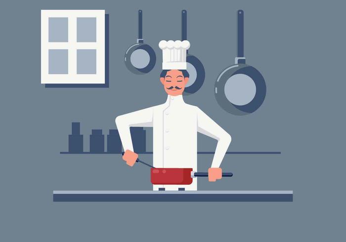 Chef-kok koken vector