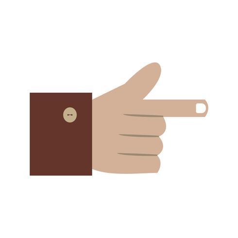 Icono de mano ilustración vectorial