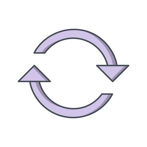 Ricarica illustrazione vettoriale icona