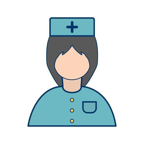 Vector verpleegkundige pictogram
