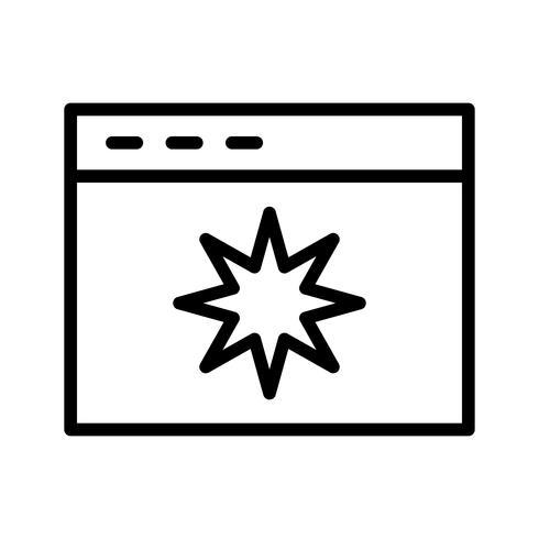 Icono de calidad de página de vector