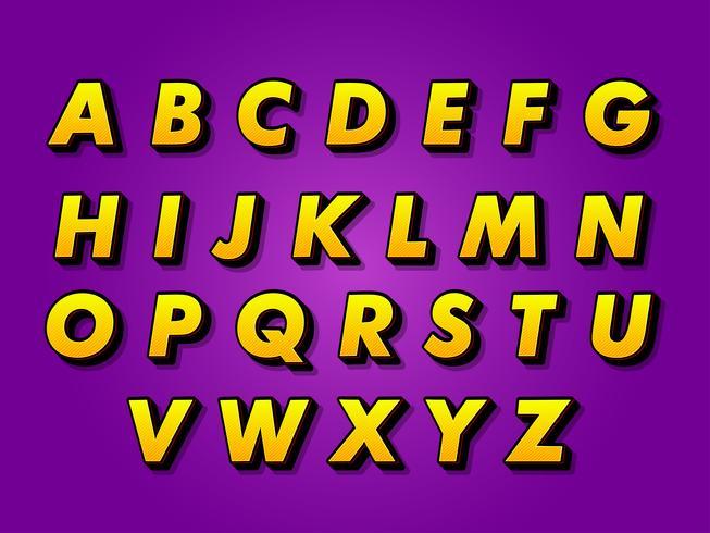 Modernes Alphabet vektor