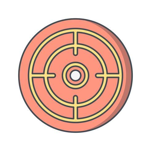 Ilustración de Vector de icono de meta