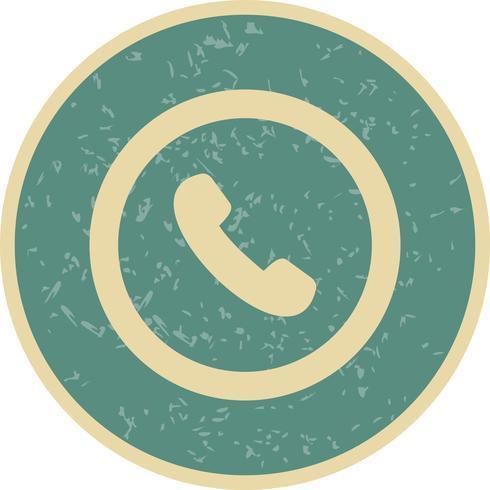 Vector icono de señal de carretera de teléfono