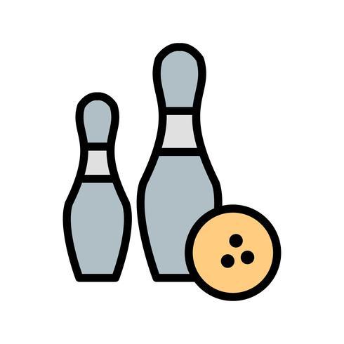 Icono de bolos ilustración vectorial