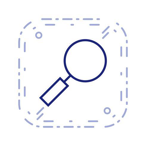 Lupa ícone ilustração vetorial