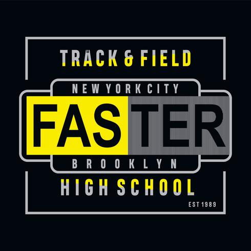 Athletic sport high school typography
