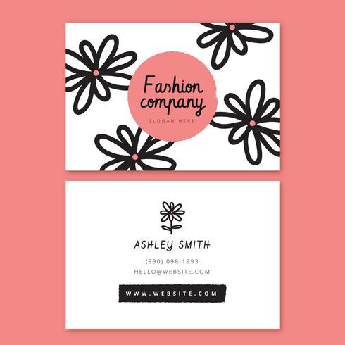 Modelo de Cartão-de-visita - flor rosa