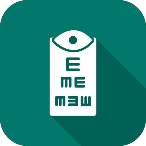 vektor ögon test ikon