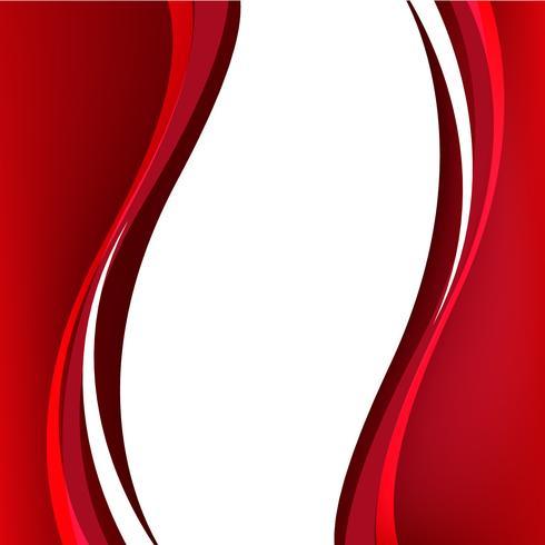 Formas onduladas rojas sobre fondo transparente
