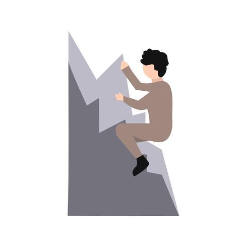 Klättring Ikon Vektor Illustration
