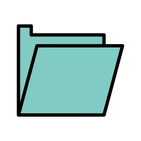 Vektor-Ordner-Symbol vektor