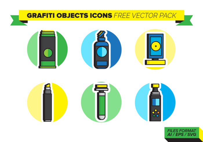 Objetos Grafiti Free Vector Pack