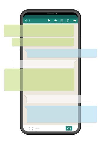 Smartphone met SNS interface op een witte achtergrond wordt geïsoleerd die.