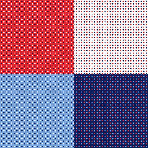 motifs de pois bleus rouge blanc sans couture