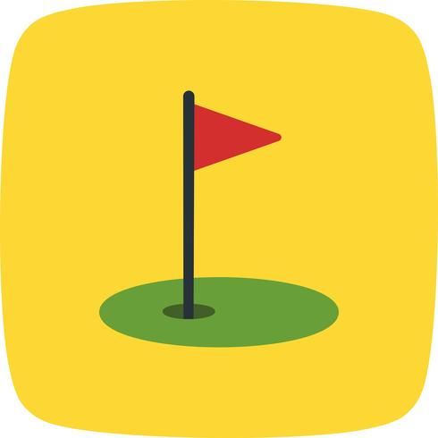 Icono de golf vector illustration