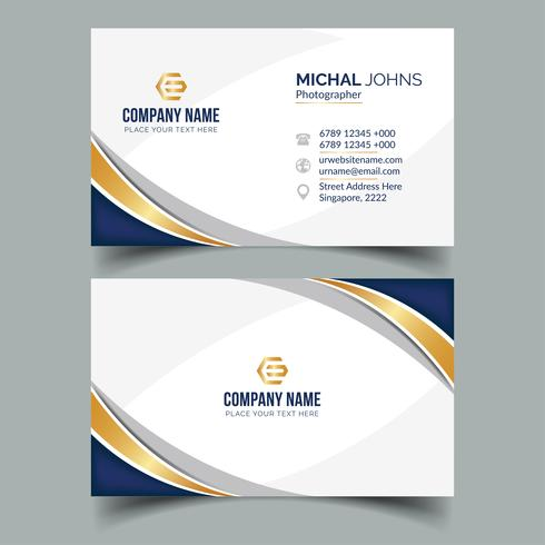 Blue and gold business card