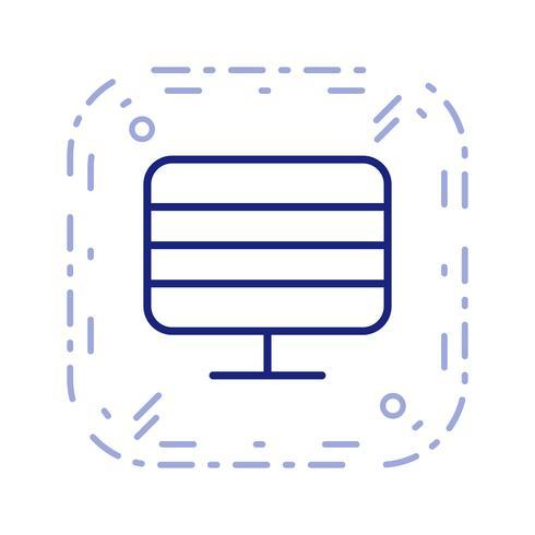 Monitor Ikon Vector Illustration
