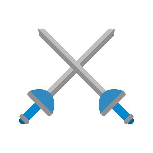 Fencing Icon Vector Illustration