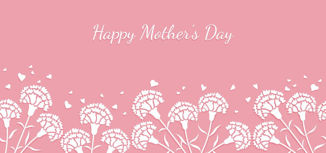 Seamless vector background illustration with text space for Mother's Day.