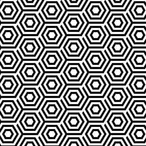 Seamless Pattern avec des hexagones abstraits