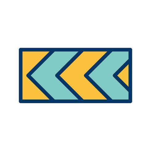 Vector Desvio acentuado da rota para a esquerda Ícone de sinal de estrada